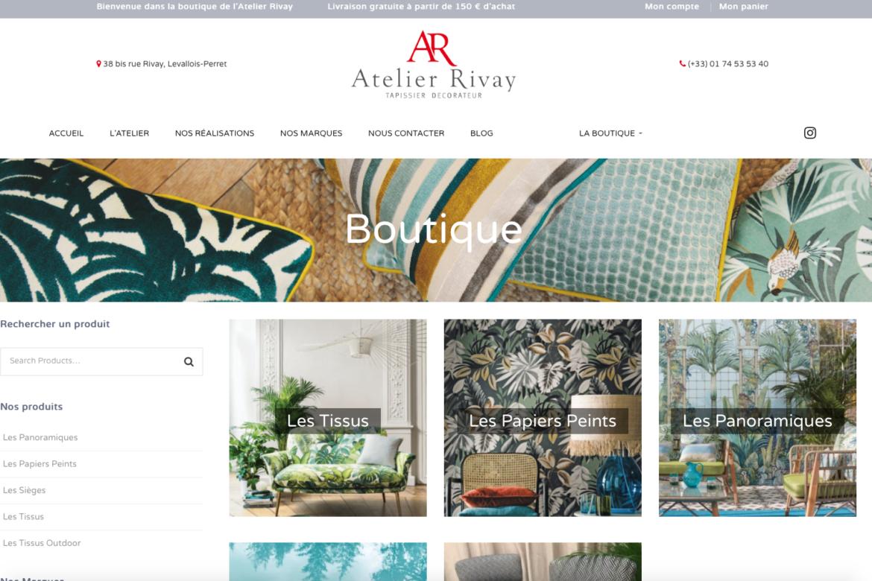 Mise en ligne de la boutique de tissus et papiers peints de l'Atelier Rivay !