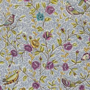 Tissu Fleurs et oiseaux Casal