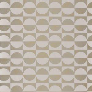 Papier peint Casamance Circles Blanc/Or