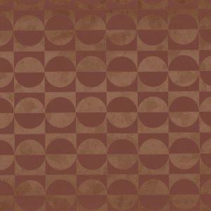Papier peint Casamance Circles Terracotta