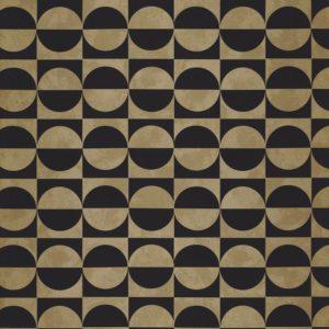 Papier peint Casamance Circles Noir/ Or