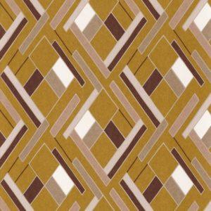 Papier peint Casamance Shapes Moutarde